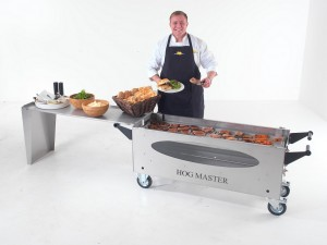 HogMasterGlass BBQ Table Food Chef small